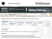 Screenshot Deutscher Bundestag