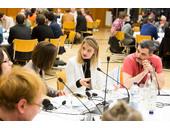 Diskussionen im World Cafe-Format