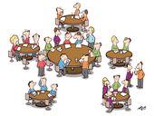 Bestuhlung 2. Konferenztag: Verhandlung durchführene